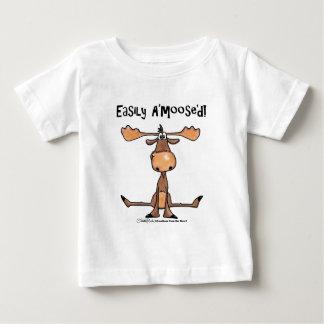 Easily Amoosed!-Sitting Moose Baby T-Shirt