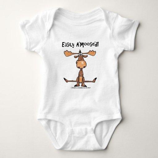 Easily Amoosed!-Sitting Moose Shirts