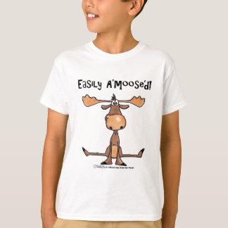 Easily Amoosed!-Sitting Moose T-Shirt