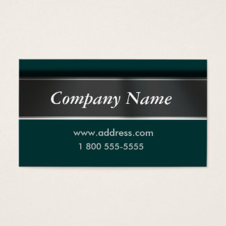 Easily Change Color Classic Green Business Cards
