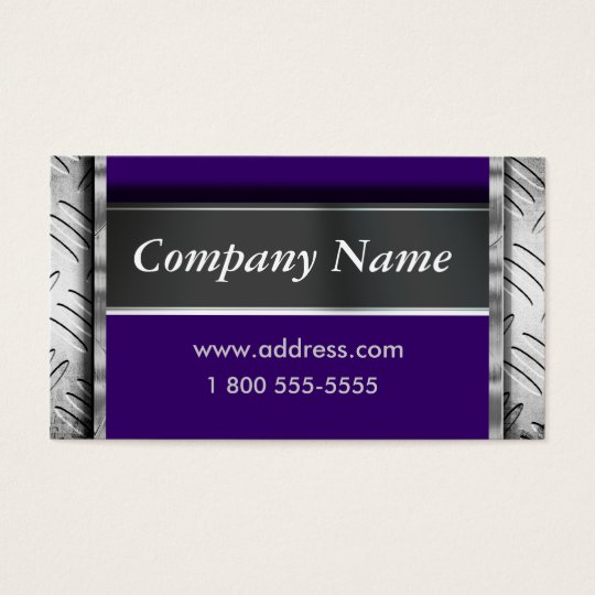 Easily Change Color Metal Look Business Cards