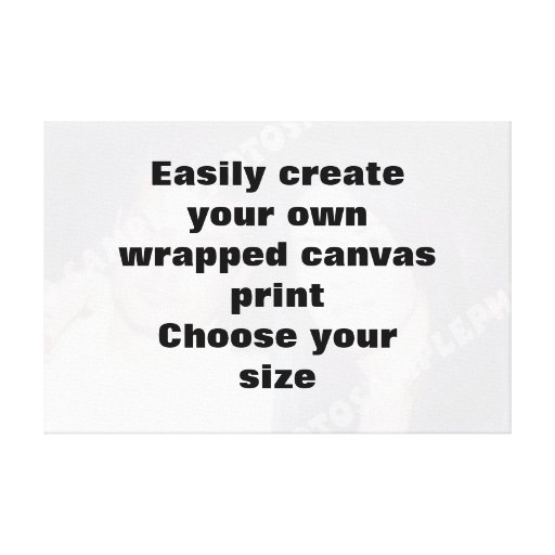 Easily create your canvasprint Remove the big text Stretched Canvas Print