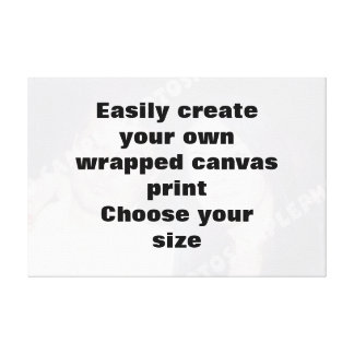 Easily create your canvasprint Remove the big text Canvas Print