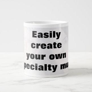 Easily create your mug. Remove the big text! Jumbo Mug