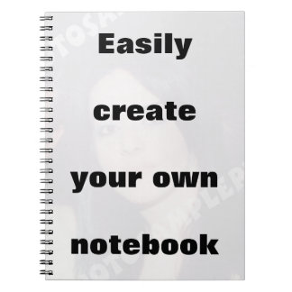 Easily create your notebook Remove the big text!