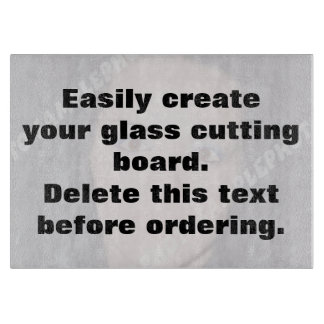 Easily create your own custom glass cutting board