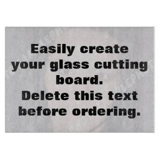 Easily create your own custom glass cutting board