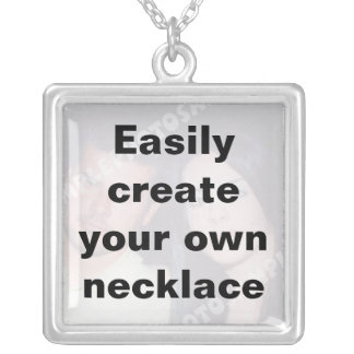 Easily create your own custom silver necklace