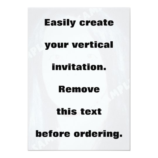 Easily create your vertical photo invitation
