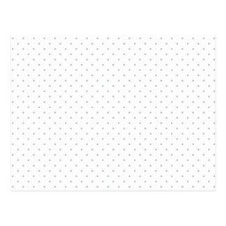 Easily Customize Color from Grey Mini Polka Dots Postcard