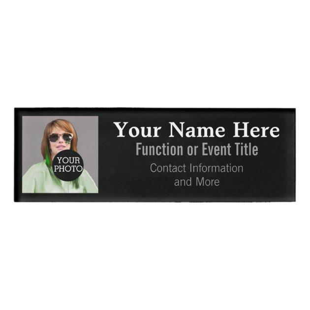 easily design your own photo logo name tag zazzle