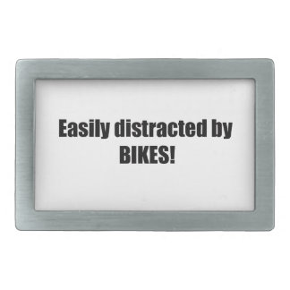 Easily Distracted By Bikes Belt Buckle