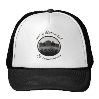 Easily Distracted By Cemeteries Trucker Hat