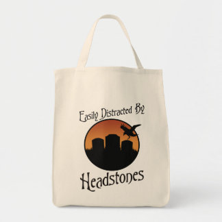 Easily Distracted By Headstones Canvas Bag