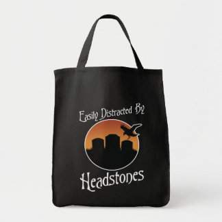 Easily Distracted By Headstones Tote Bags