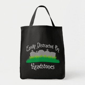 Easily Distracted By Headstones Tote Bag