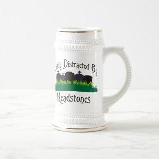 Easily Distracted By Headstones Beer Stein
