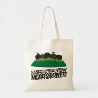 Easily Distracted By Headstones Budget Tote Bag
