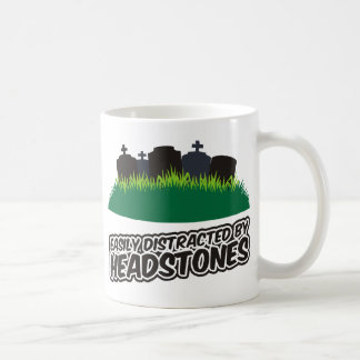 Easily Distracted By Headstones Classic White Coffee Mug