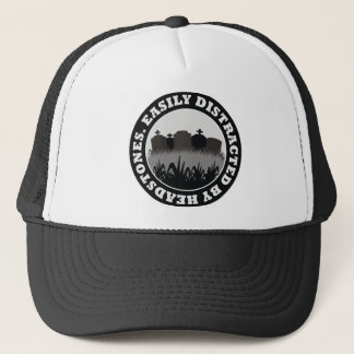 Easily Distracted By Headstones Trucker Hat