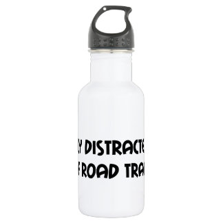 Easily Distracted By Off Road Trails Water Bottle