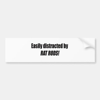 Easily Distracted By Rat Rods Bumper Sticker