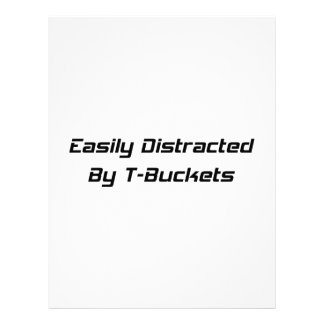 Easily Distracted By T-buckets Tbucket Gifts By Ge Letterhead Template