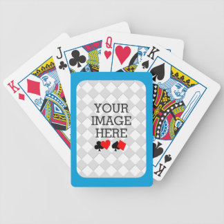 Easily Make Your Own Deck in One Step Blue Frame Bicycle Playing Cards