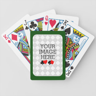 Easily Make Your Own Deck in One Step Green Frame Bicycle Playing Cards