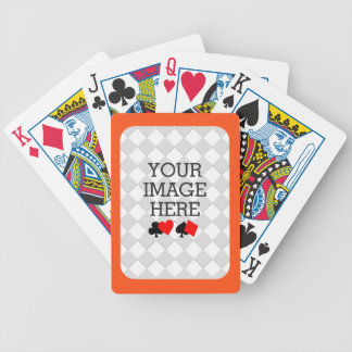 Easily Make Your Own Deck in One Step Orange Frame Bicycle Playing Cards