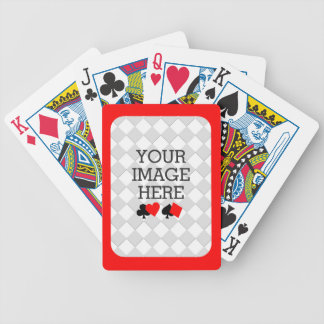 Easily Make Your Own Deck in One Step Red Frame Bicycle Playing Cards