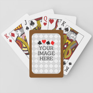 Easily Make Your Own in One Step Chocolate Brown Poker Deck
