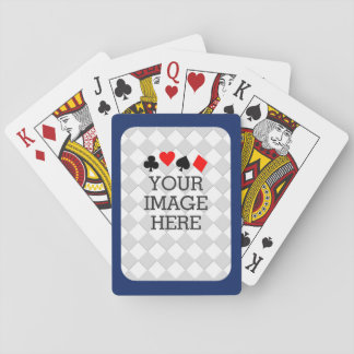 Easily Make Your Own in One Step in Navy Blue Poker Cards