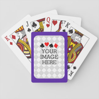 Easily Make Your Own in One Step in Purple Mauve Poker Cards