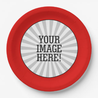 Easily Make Your Own in one step in Red Frame Paper Plate