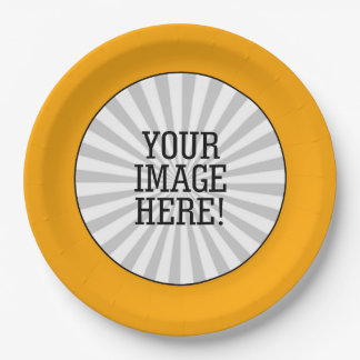 Easily Make Your Own in one step in Yellow Frame Paper Plate