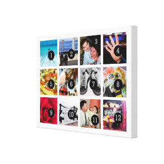 Easily Make Your Own Photo Art with 12 images Canvas Print