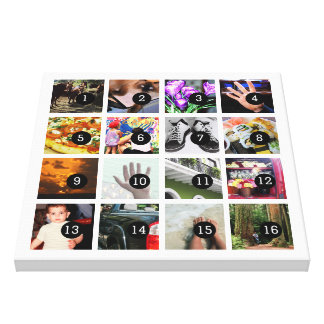 Easily Make Your Own Photo Art with 16 images! Canvas Print