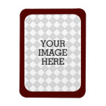 Easily Make Your Own Photo Display Burgundy Frame Rectangular Photo Magnet