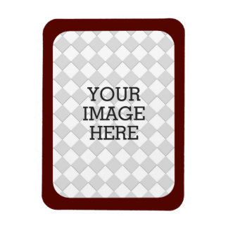 Easily Make Your Own Photo Display Burgundy Frame Rectangular Photo Magnet