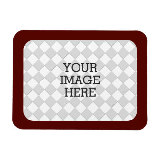 Easily Make Your Own Photo Display in Burgundy Rectangular Photo Magnet