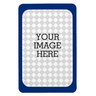 Easily Make Your Own Photo Display in Navy Blue Rectangular Photo Magnet