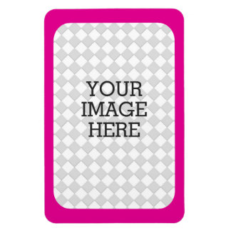 Easily Make Your Own Photo Display Pink Fuchsia Magnet