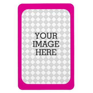 Easily Make Your Own Photo Display Pink Fuchsia Rectangular Photo Magnet