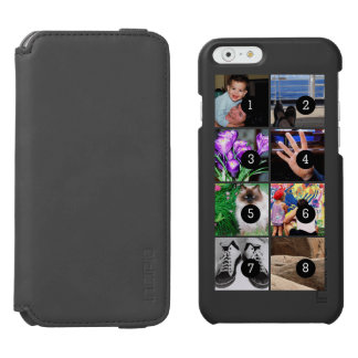 Easily Make Your Own Photo Display with 8 photos iPhone 6/6s Wallet Case