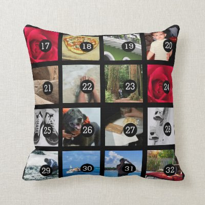 make your own 32 instagram photo collage throw pillow | zazzle Make Your Own Pillow