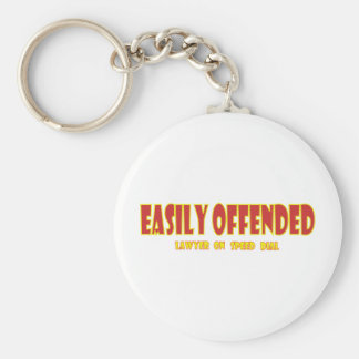 Easily offended keychain