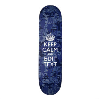 Easily Personalized KEEP CALM AND Edit Text Skateboard