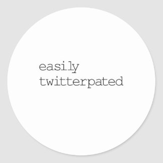 Easily Twitterpated Classic Round Sticker