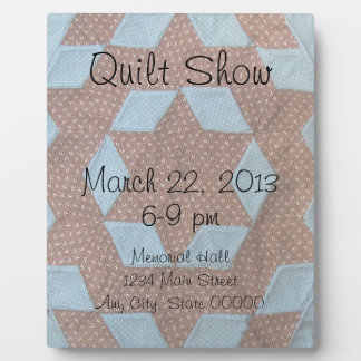 Easle - Quilt Show Announcement Plaques